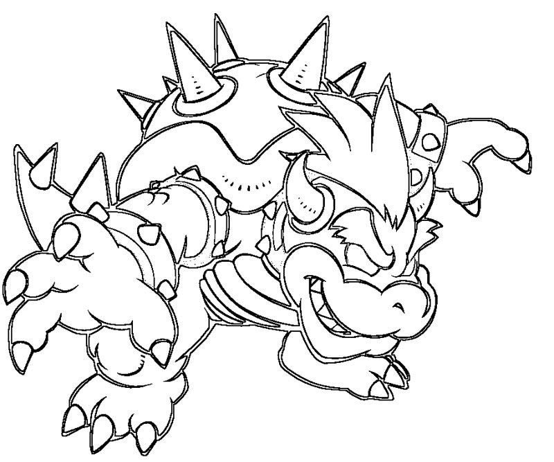 5 Bowser Coloring Page Coloring Home