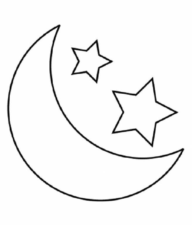 Moon and stars coloring pages coloring home for Moon and stars coloring pages