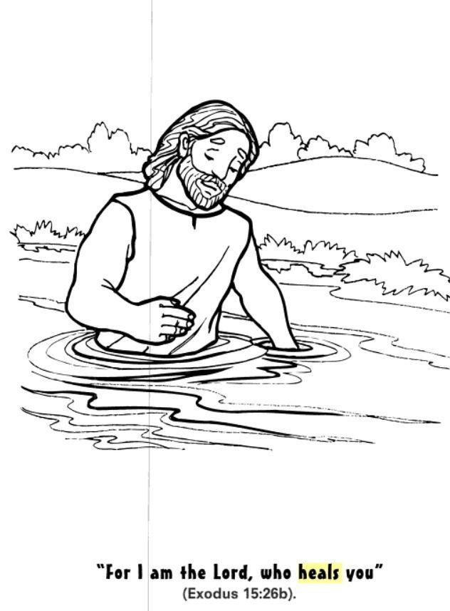 god heals naaman coloring page journey kidz - Bible Story Coloring Pages Naaman
