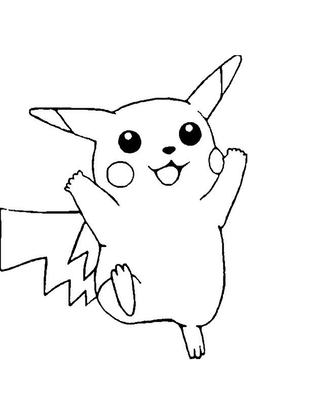 pikachu in action coloring pages - photo#17
