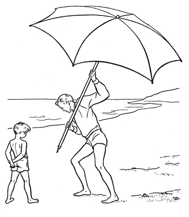 beach umbrella coloring pages - photo#20