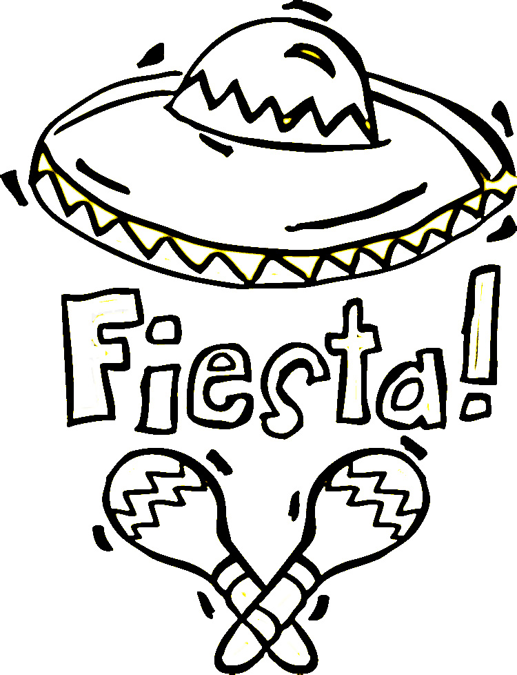 mexican restaurant coloring pages - photo#3