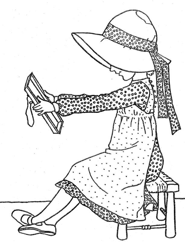 coloring pages of hollyhobbie - photo#16