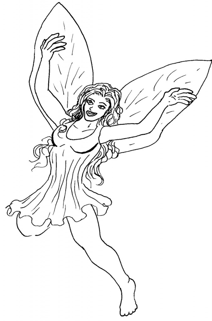 pixie hollow fairy coloring pages printable | The Coloring Pages