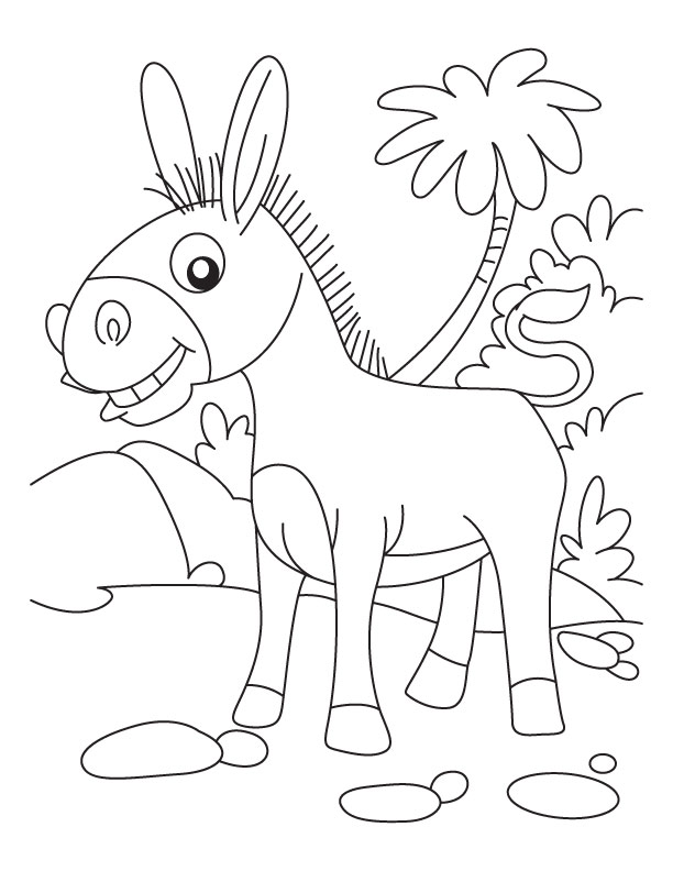 Donkey coloring page az coloring pages for Donkey coloring pages free