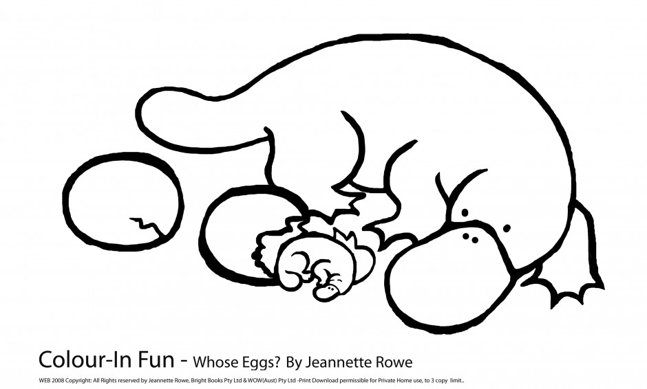 Perry The Platypus As A Baby Az Coloring Pages Platypus Coloring Page