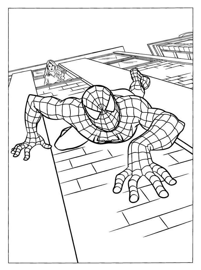 Spiderman vs The Lizard Coloring Pages - Superheroes Coloring