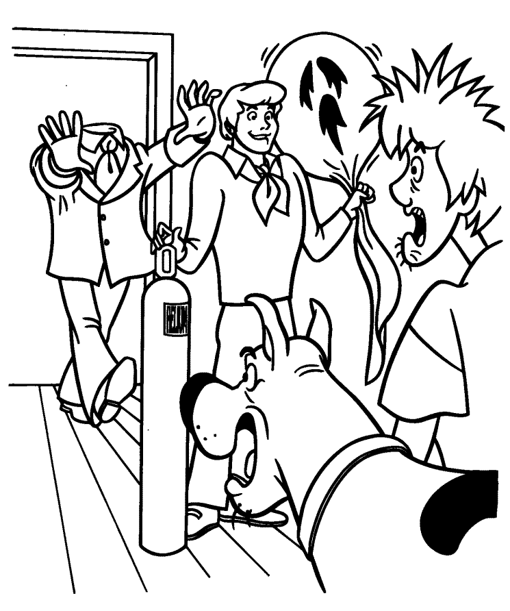 Scooby Doo Halloween Colouring Pages (page 3) - Coloring Home