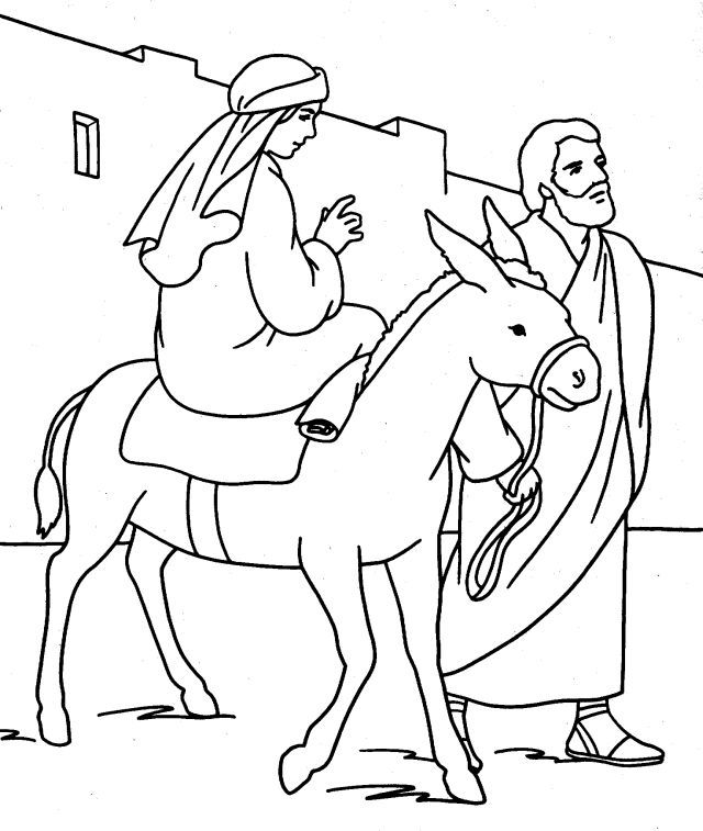 joseph mary coloring pages - photo#2