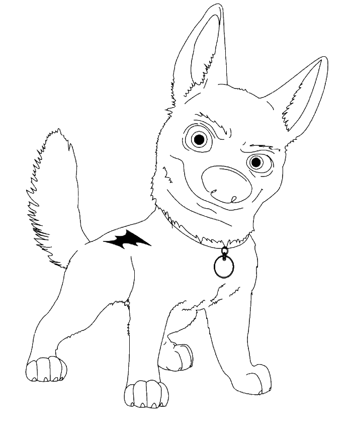 bolt coloring pages for kids - photo#24