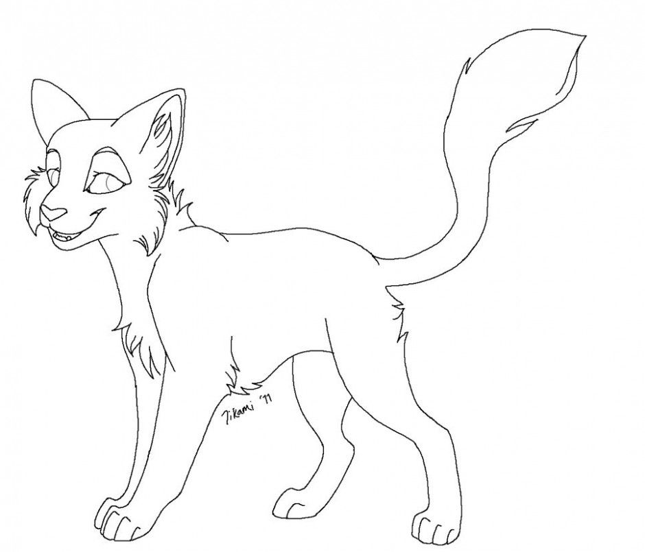 Free Lineart Longhair Cat By Tesseri Shira On DeviantART 184084