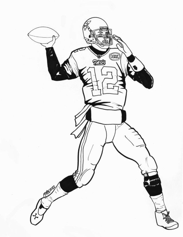 coloring pages of tom brady | Tom Brady Coloring Pages Printable - Coloring Home