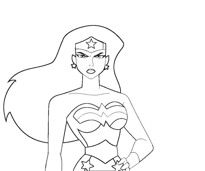 Wonder Woman Color Pages