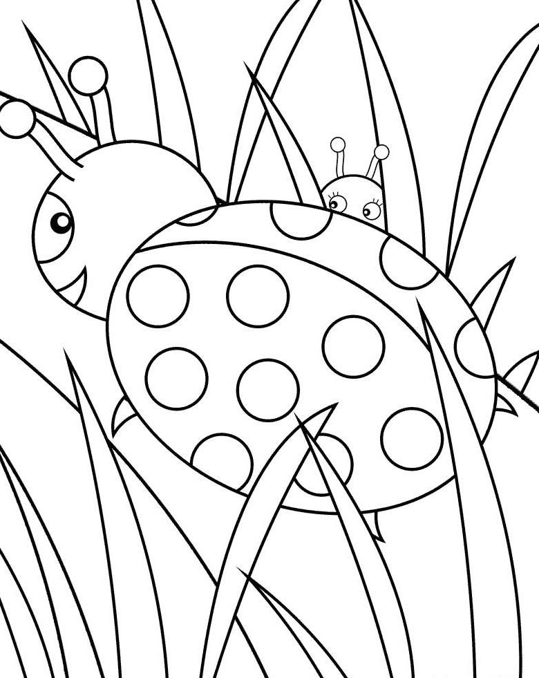 ladybug coloring pages worksheets - photo#7