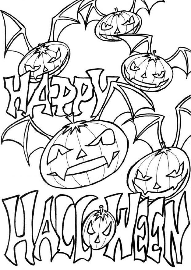 Download Happy Halloween Free Printable Pumpkin Coloring