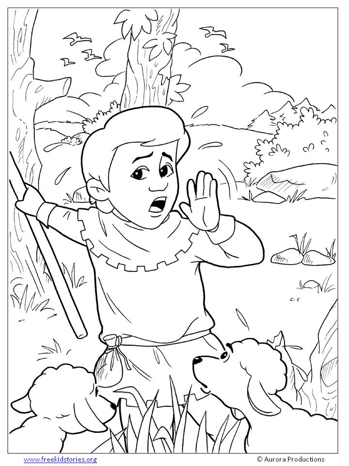 The Boy Who Cried Wolf Coloring Pages Free Printable