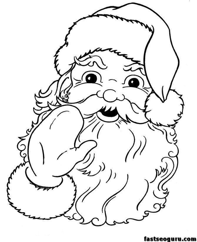 Santa Claus Face Patterns Coloring Home