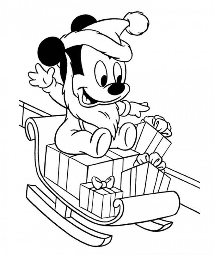 Baby Disney Christmas Coloring Pages  getcoloringscom