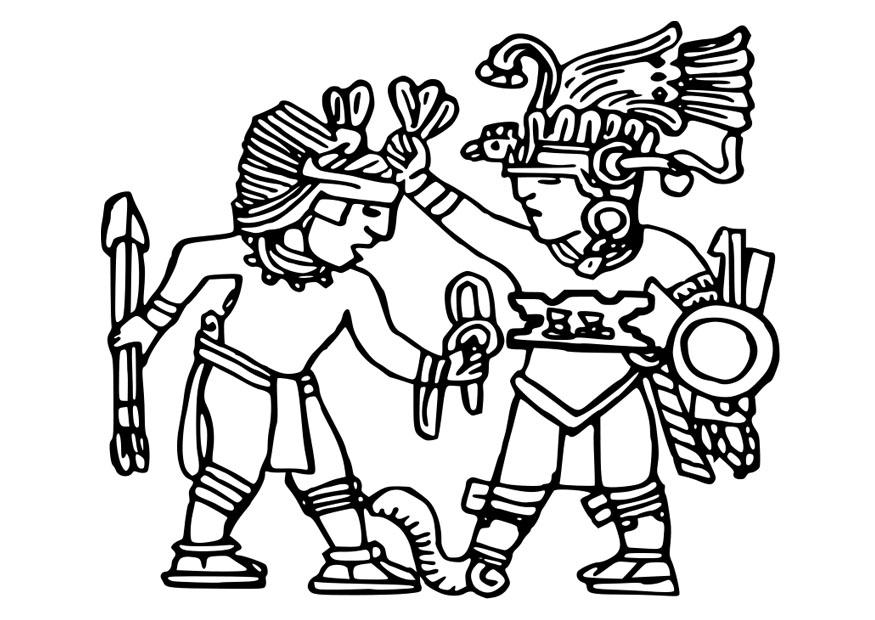 Aztec Coloring Pages - Coloring Home