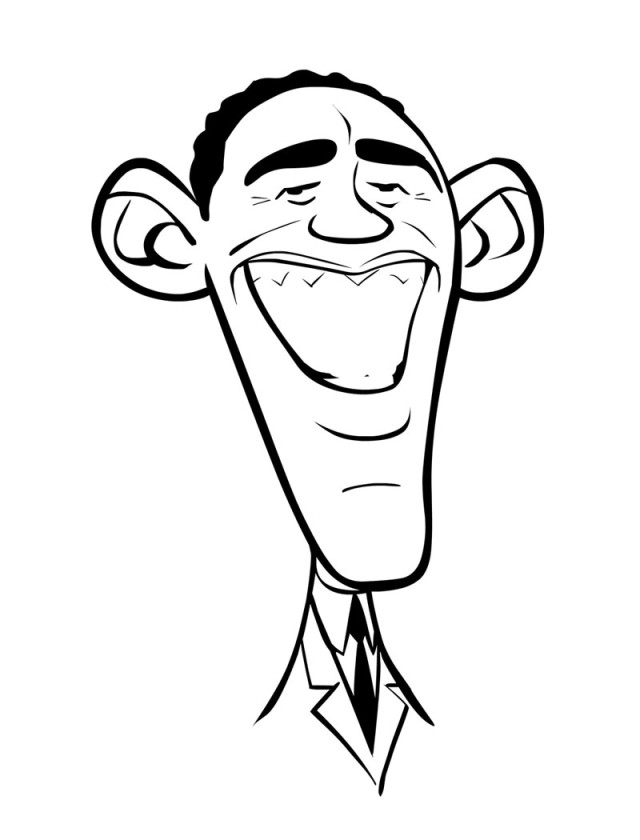 Obama coloring pages az coloring pages for Barack obama coloring page