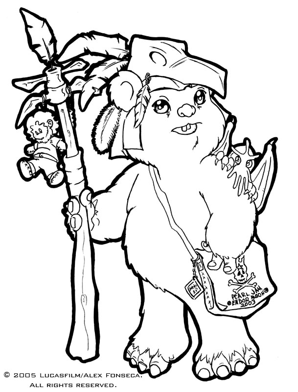 star wars ewok coloring pages - photo#14