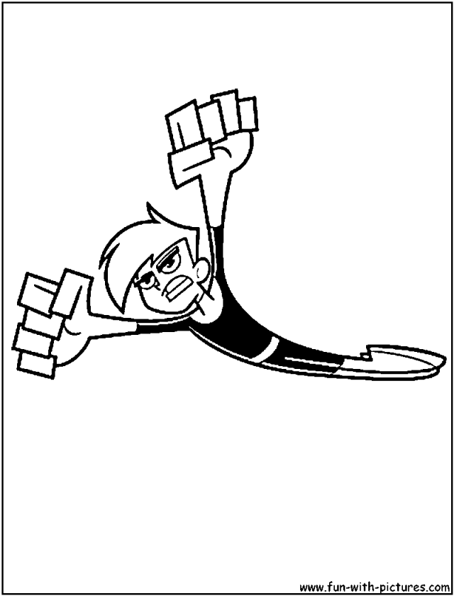 Danny Phantom Coloring Page Coloring Home Danny Phantom Coloring Pages