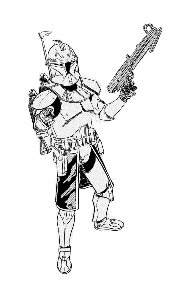 clone commander gree coloring pages - photo#15