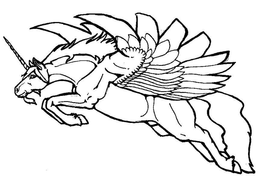 Pegasus coloring pages for kids az coloring pages for Coloring pages of pegasus