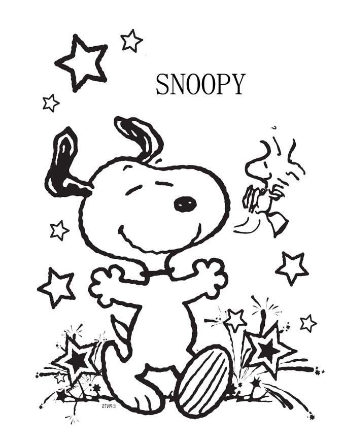 Snoopy-Very-Happy-Coloring-