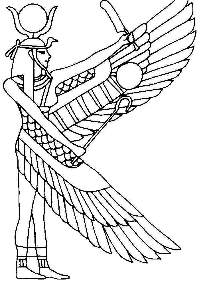 Egyptian Gods Coloring Pages