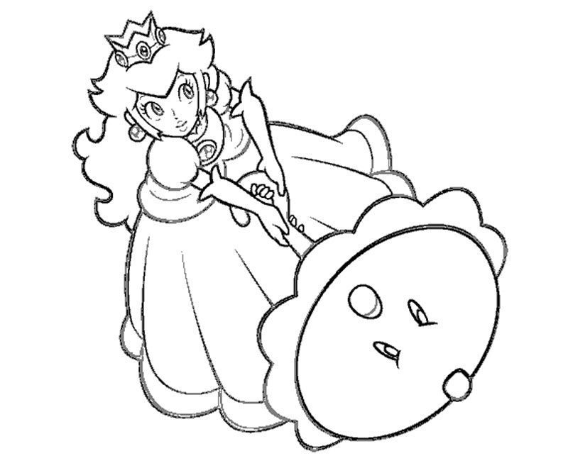 Printable Princess Peach Coloring Pages Coloring Home