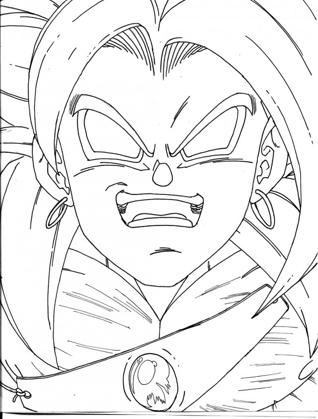 broly coloring pages - photo#34