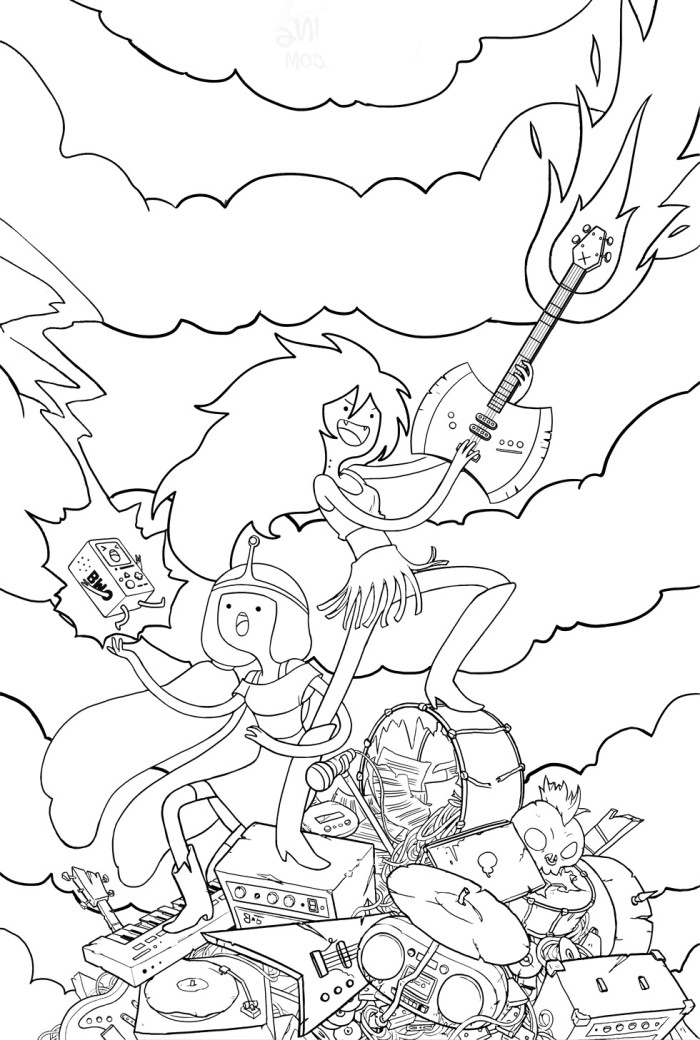 Adventure time coloring pages to print az coloring pages for Adventure coloring pages