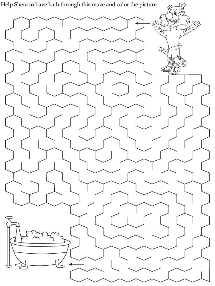 Maze Coloring Page