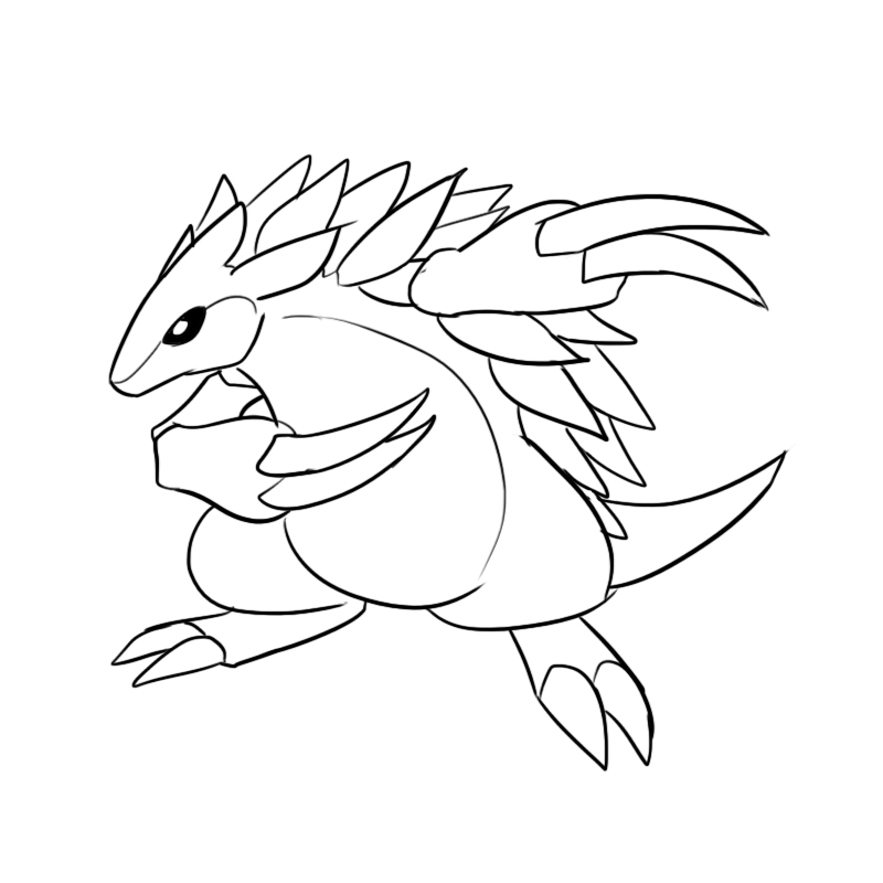 sandslash pokemon coloring pages - photo#8