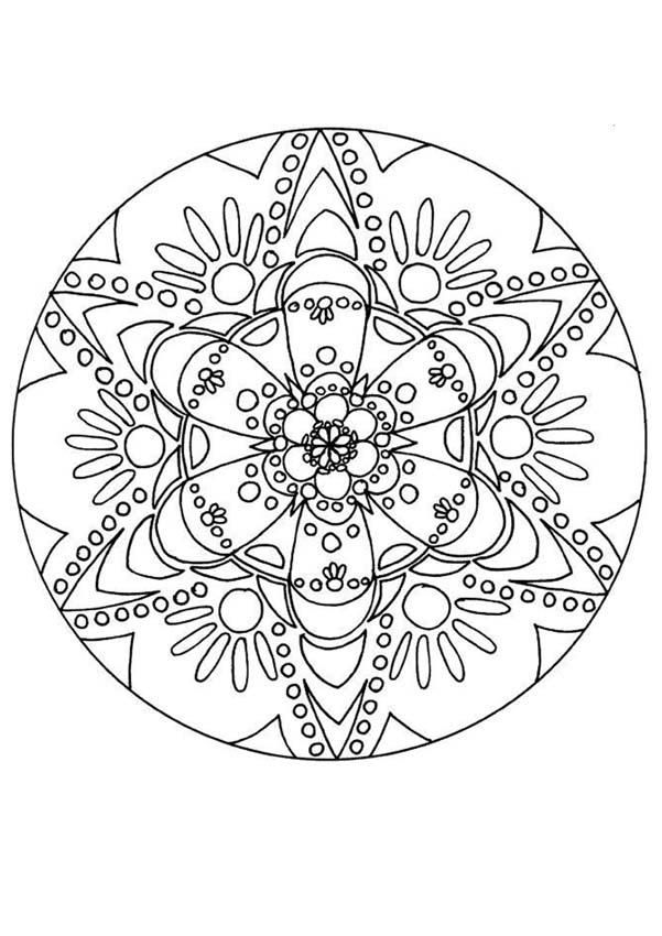 Great Mandala Coloring Pages Free : New Coloring Pages