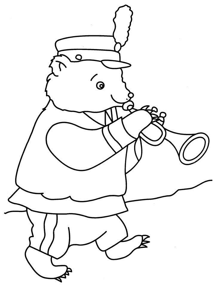 playing instrument Colouring Pages