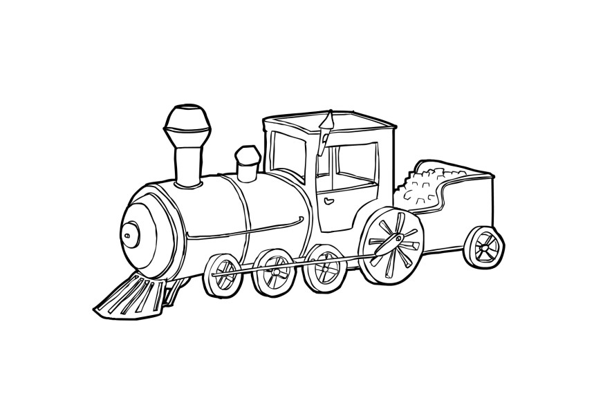railroad freight cars coloring pages - photo#28