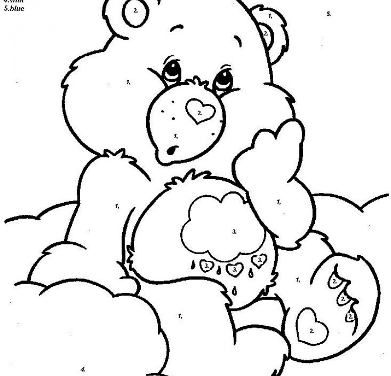 easy number coloring pages - photo#2