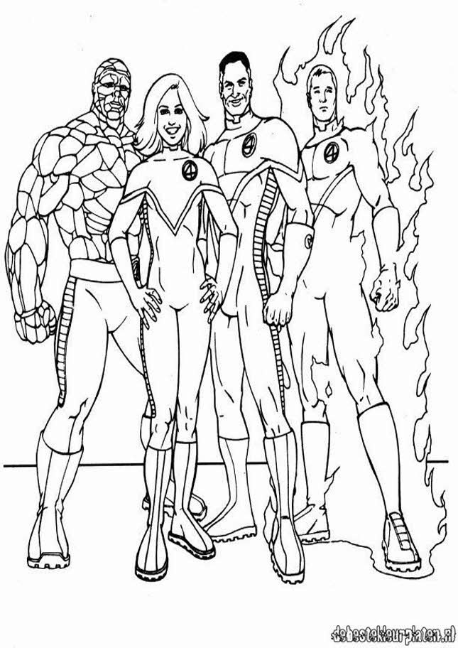 Fantastic Four Colouring Pages (page 2)