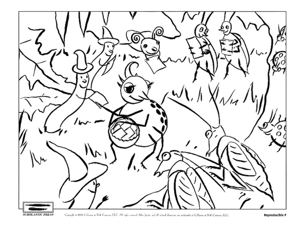 little miss muffet coloring pages - photo#29
