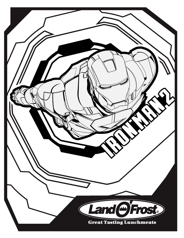 Marvel Iron Man Coloring Pages From The MovieIronPrintable