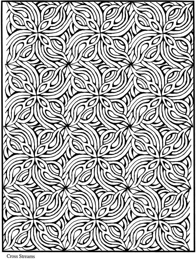 fractal coloring pages for kids - photo#11