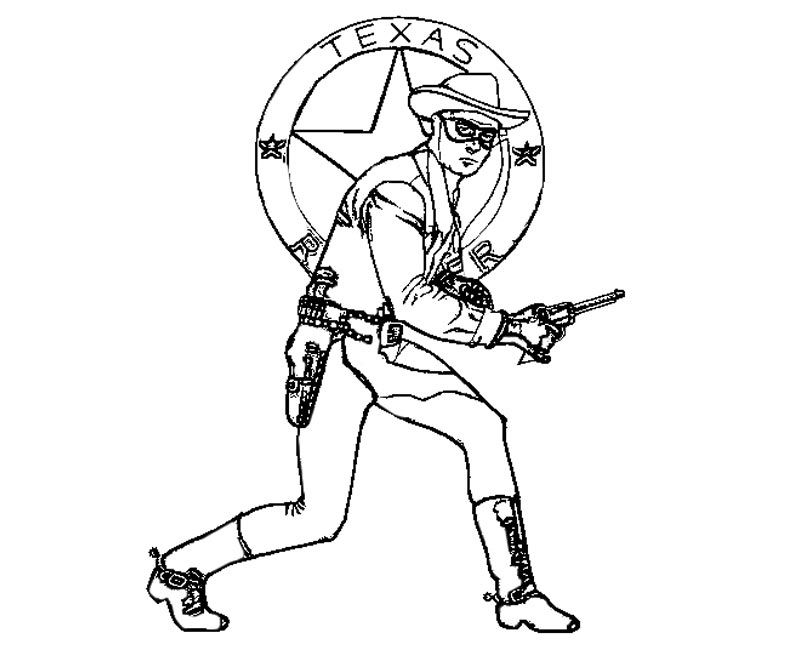 Lone Ranger Coloring Pages Coloring Home