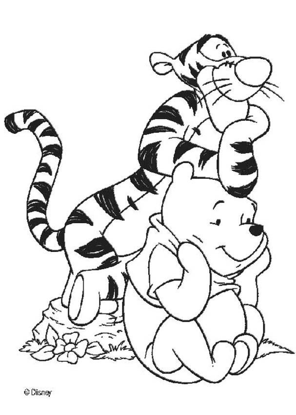 Drawing of winnie the pooh coloring home for Winnie the pooh and friends coloring pages