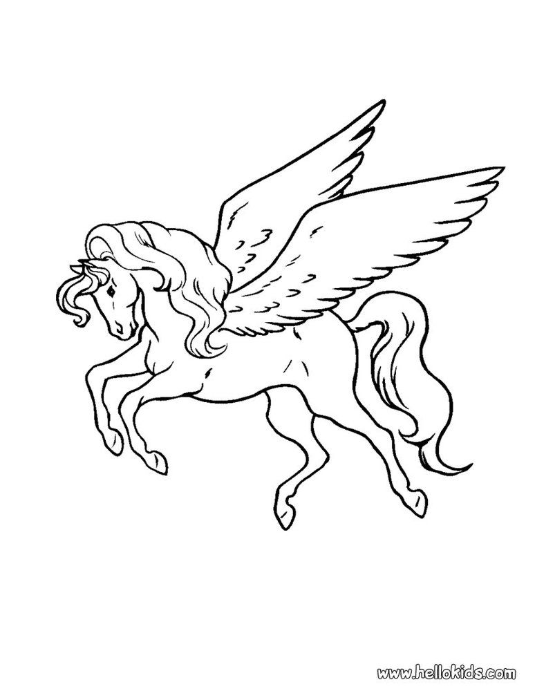 mystical animal coloring pages - photo#10