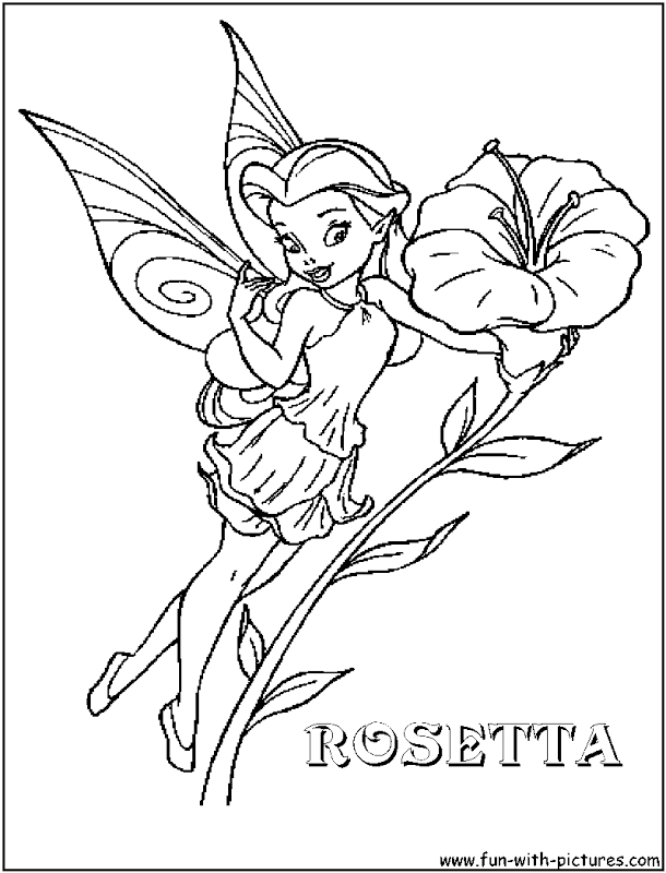 Disney Fairy Rosetta Coloring Pages
