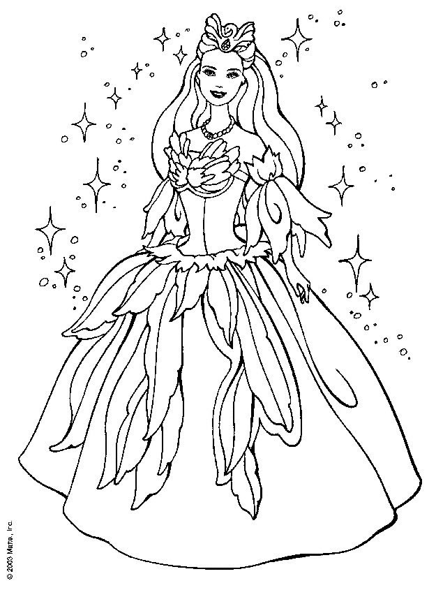 barbie coloring pages for free - photo#7