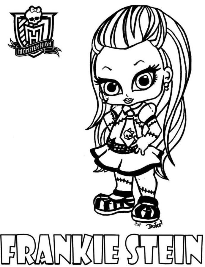 Monster High Coloring Sheets To Print - Coloring Home