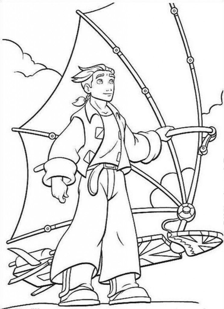 Funny Free Printable Treasure Planet Coloring Pages Picture